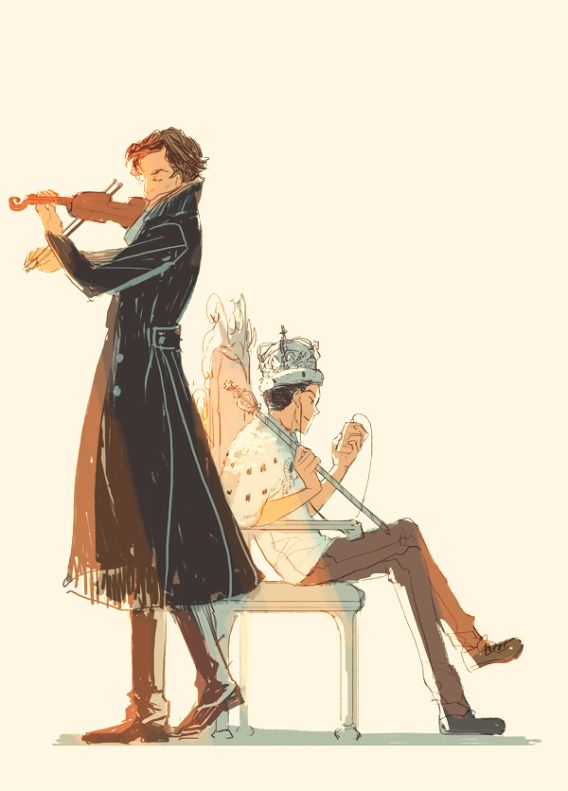 Hey look Sherlock, and Moriarty hangin out like normal bro's... Well normal from Sherlock, and Moriartys point of view I guess
