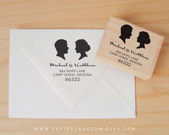 Custom Rubber Stamp  Silhouette by PapierSanctum on Etsy, $30.00
