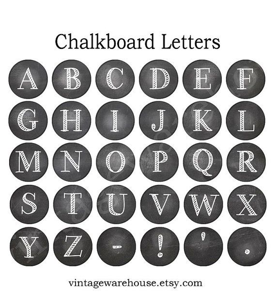 CHALK BOARD LETTERS  Chalk Letter ABCs  by vintagewarehouse