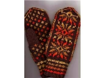 Nya handstickade damvantar / vantar med mönster 100% ull. på