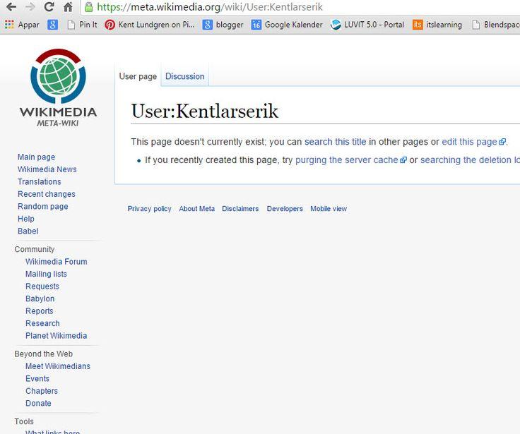 """min"" Meta-wikimedia sida: https://meta.wikimedia.org/wiki/User:Kentlarserik . Ser Yger's sida här: https://meta.wikimedia.org/wiki/User:Yger . Boberger: https://meta.wikimedia.org/wiki/User:Boberger . Dan Koehl: https://meta.wikimedia.org/wiki/User:Dan_Koehl . Se Thoasp: https://meta.wikimedia.org/wiki/User:Thoasp . . Riggwelter: https://meta.wikimedia.org/wiki/User:Riggwelter . Tegel: https://meta.wikimedia.org/wiki/User:Tegel . Se kategori https://meta.wikimedia.org/wiki/Category:User_sv…"
