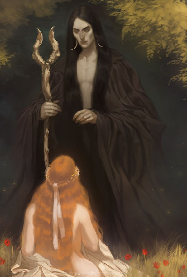 Hades and Persephone by jodeee