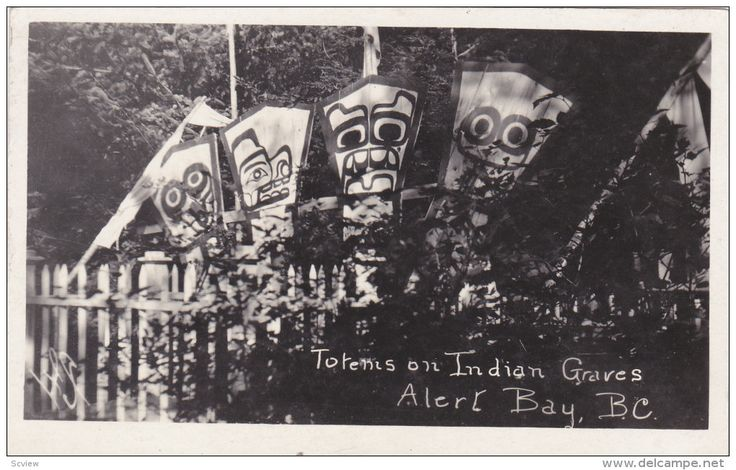 RP: Indian Totems on graves , Cemetery , ALERT BAY , B.C. , Canada , 00-10s Item number: 273479612 - Delcampe.com