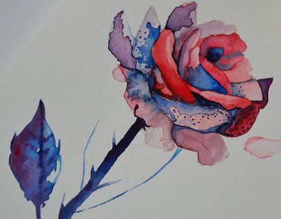 """Check out new work on my @Behance portfolio: """"Watercolor flower"""" http://be.net/gallery/46221383/Watercolor-flower"""