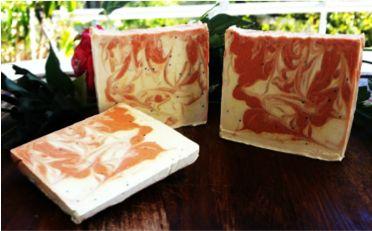 Orange and poppy seeds handmade soap!