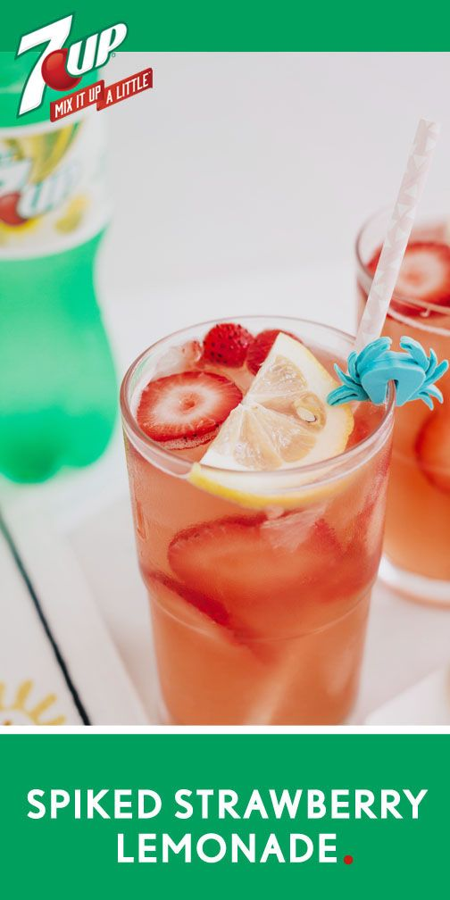 One sip of this Spiked Strawberry Lemonade cocktail recipe and you'll be hooked on the refreshing, fruity flavor! With 7UP®, fresh berries, lemonade, and vodka mixed together, this fizzy drink recipe is perfect for making a big batch—so all your friends can enjoy it. By picking up all the ingredients and everything you need for your summer get-together at Target, your outdoor party planning is practically complete!