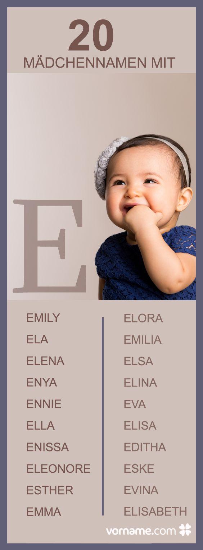 Dir gefallen Vornamen wie Elsa oder Emma? Dann schau Dich um in unserer Liste der Babyvornamen mit E!