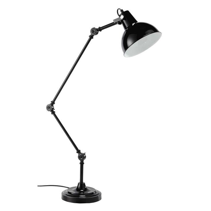 Gelenk-Schreibtischlampe KONRAD aus Metall, H 81cm, schwarz