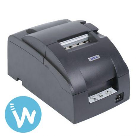 Imprimante matricielle à impact qui imprime les tickets en bicolore noir et rouge, la TM-U220D est à un prix particulièrement abordable.