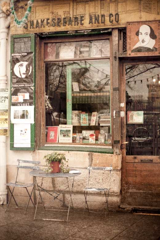 ~Shakespeare and Company is an American Bookstore opened by Sylvia Beach on The Left Bank in Paris 1919. During the 20's, it was the gathering place for everyone from James Joyce to Hemingway ~*