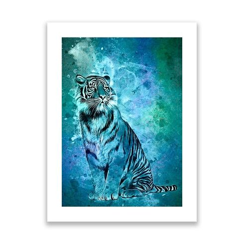 watercolor tiger Print by ancello at zippi.co.uk
