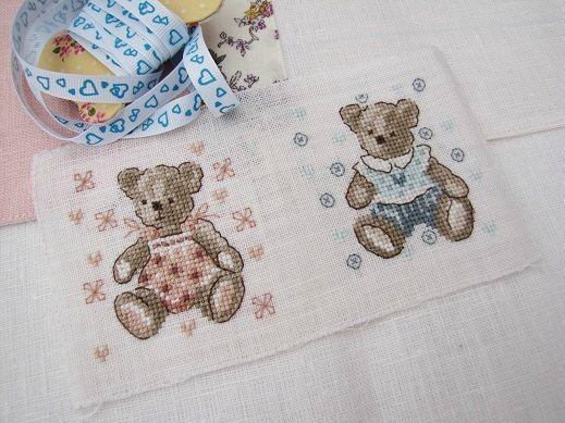 teddy bear couple Un gar et une fill-De Fil En Aiguille 68