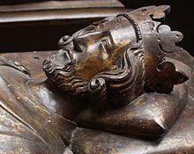 Effigy of King Henry III in Westminster Abbey, c 1272