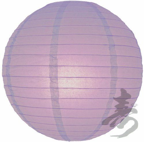 """4"""" Lavender Even Ribbing Round Paper Lantern (10 Pack) by Asian Import Store, Inc.. $5.50. (All lanterns sold without lighting, lighting options must be purchased separately). Round paper lanterns with a even wire ribbing and held open with a wire expander.. Sold in packs of 10 Paper Lanterns.. Dimensions: 4"""" dia. Round paper lanterns with a even wire ribbing. Lantern is held open with a wire expander. Sold in packs of 10. So, if you purchase 2 of this item, you are receivi..."""