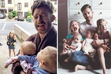 Básicamente, esto es lo que significa ser padre de 4 niñas y el único hombre de la casa