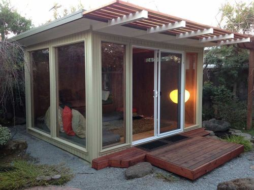 Best 25 modern shed ideas on pinterest prefab pool for Mid century modern shed