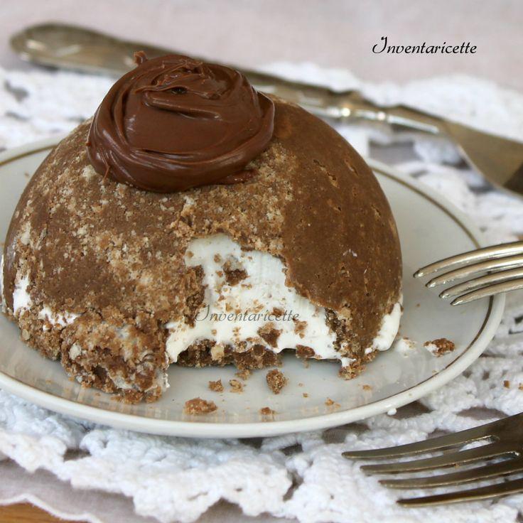 Mini dessert gelato alla vaniglia e nutella | Semifreddo gelato