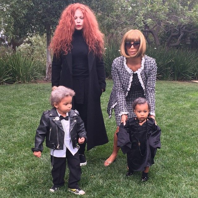 Pin for Later: 10 Celebrities Who Took Their Baby's First Halloween Costume to an AdoraBOO Level Kim Kardashian and Kanye West's Daughter North