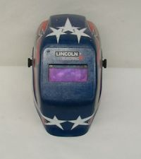 Lincoln Electric Welding Helmet REDWHITE and BLUE 175 S 461g