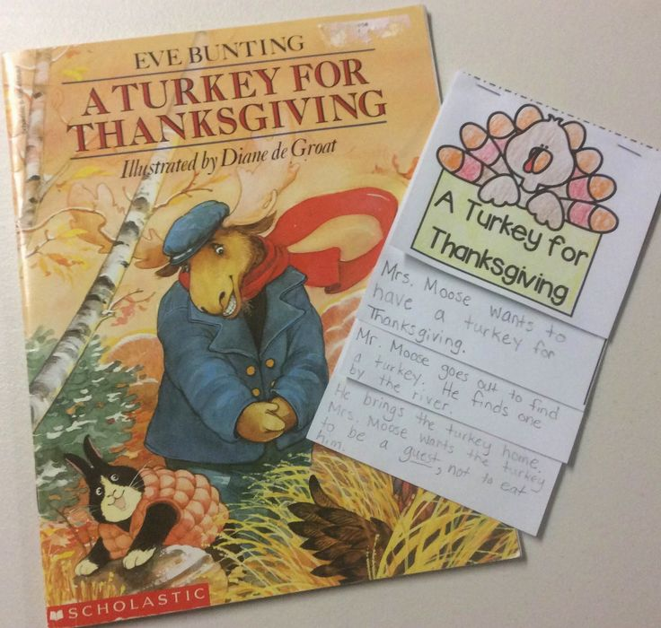 Ideas for the week of Thanksgiving: retelling the story A Turkey for Thanksgiving by Eve Bunting.
