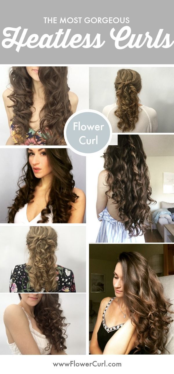 Create No Heat Curls No Heat Hairstyles Overnight Curls For Shoulder Length Past The Sho Curls For Long Hair Curls For Medium Length Hair No Heat Hairstyles