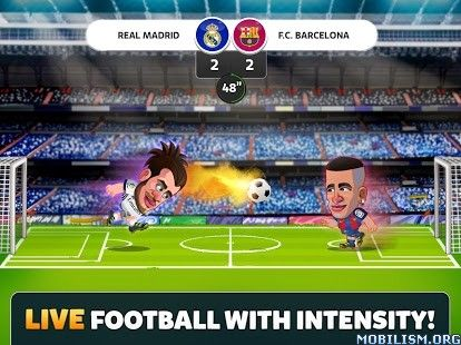 Head Soccer La Liga 2017 v3.1.0 (Mod Money)Requirements: Varies with deviceOverview: HEAD SOCCER LA LIGA is the official game for Spanish League Soccer for 2016-2017 season!  Choose your favourite soccer player among the official LaLiga squads,...