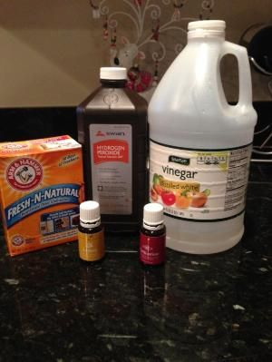 Homemade washing machine cleaner   -cup of baking soda w Lemon Young Living Essential Oil in the drum (I use about ten drops) - 1/2 cup of peroxide, 1/2 cup of vinegar, and Purification essential oil where the liquid goes (I have a top HE loader)  -run on clean washer setting -enjoy a clean, wonderful smelling washer!  I repeat about once a month. by clouyeo44