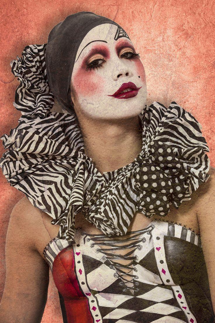 Kreatív Sminkműhely vintage Clown,  MUA: Amin B., Vadócz Edina