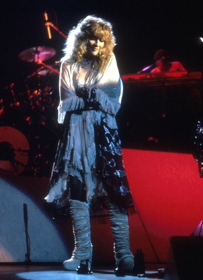 the photo of Stevie ~ ☆♥❤♥☆ ~    used for her debut solo studio 'Bella Donna' album, recorded live at the Fox Wilshire Theatre in Beverly Hills, CA, on December 13th, 1981 ~ LOVE her outfit and pose  ~  it was recorded in Autumn 1980 – Spring 1981  ~   https://en.wikipedia.org/wiki/Bella_Donna_(album)