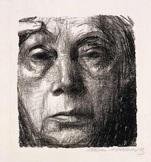 Kathe Kollwitz. Self-Portrait.