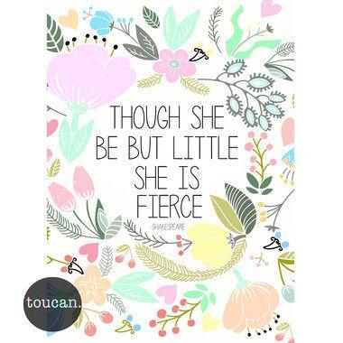 Print Fierce - Though She Be Little A4 – Shut the Front Door! online