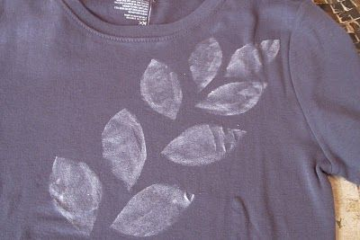 Hope Studios: Layered Tee - Tutorial Tuesday. Idea: stencil shirt to cover stains using freezer paper stencils. Print. Cut. Iron onto shirt. Paint.
