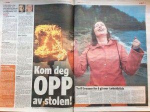 Kom deg opp av stolen! Torill brenner for å gå mer i arbeidstida  Artikkel i Dagbladet oktober 2014