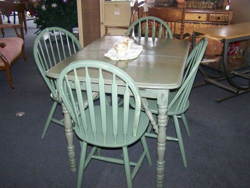 Find this Cute vintage painted table wit 4 chairs in Downtown West Bend21 best painted kitchen tables images on Pinterest   Painted  . Teal Painted Kitchen Table. Home Design Ideas