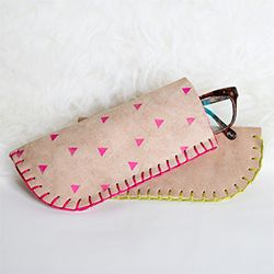 It's sunglasses season once again! Here is a fun tutorial for a DIY Leather Glasses Case perfect for any pair of spectacles.