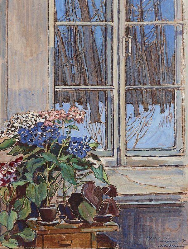 Маторин Михаил Владимирович (1901-1976) «Зимний вечер. Суханово» 1955