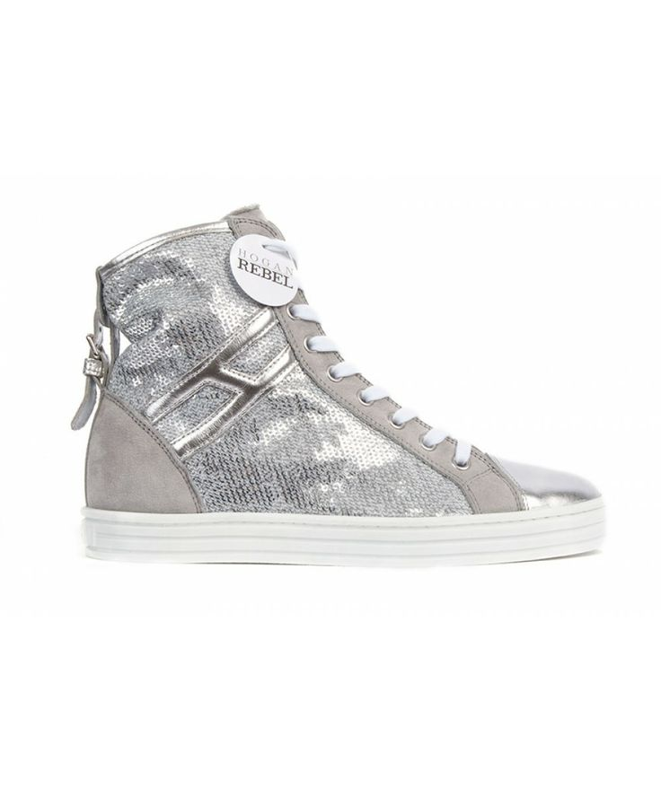 Groppetti Luxury Store - Sneakers Alta Pailettes - Hogan Rebel Shoes Woman Spring Summer 2014 #hogan #hoganshoes # hoganrebel #fashion #woman