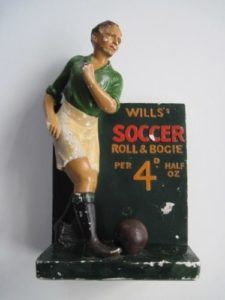 W.D. & H.O. Wills Soccer Tobacco shop display model c.1935