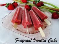 Strawberry Rhubarb Popsicles