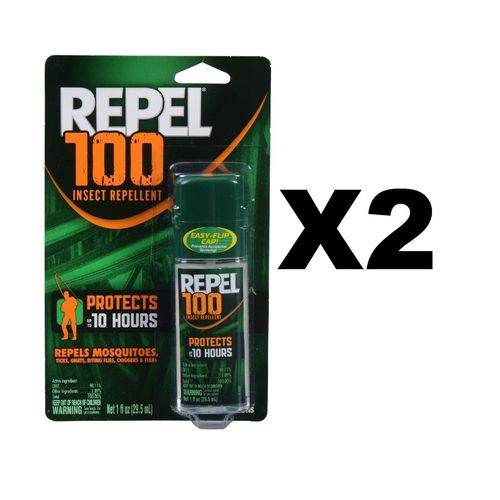 Repel 100 Insect Repellent Pump Spray 1oz Repels Mosquito Tick Chigger (2-Pack)