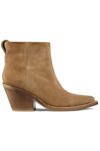 Your Search For The Perfect Spring Boot Ends Here #refinery29 *Acne Studios Donna Suede Bootie