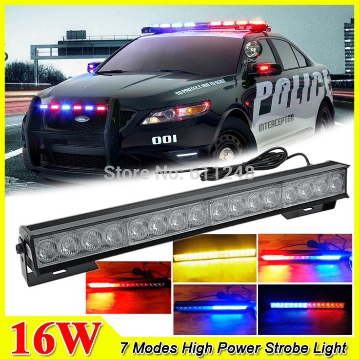 Check Discount New 16W Hight Power Strobe Light Fireman Flashing Police Emergency Warning Fire #Emergency #Light #Bar