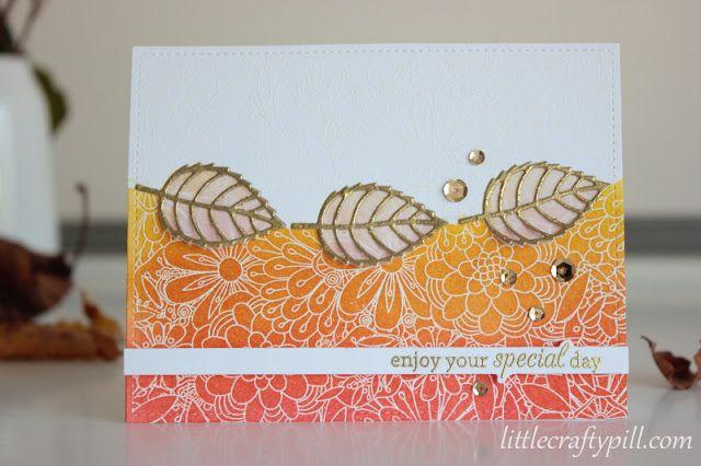 Little Crafty Pill: Autumn Card with Emboss Resist