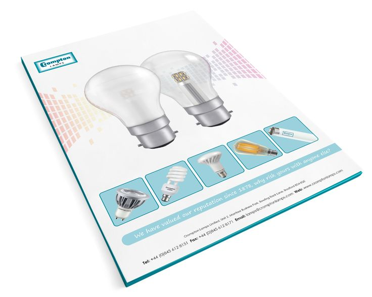 Crompton Lamps presentation folder