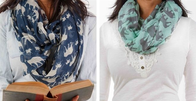 Designer Inspired Elephant Print Scarves-5 Colors | Jane
