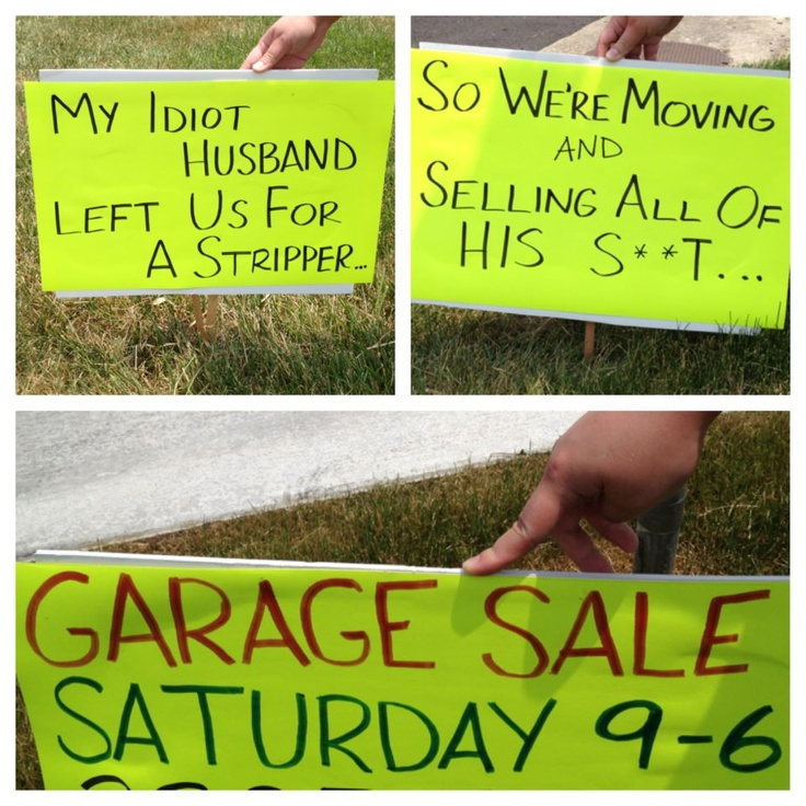 17 Best images about Garage Sale Signs on Pinterest | Garage sale ...