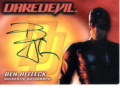 Ben Affleck certified autograph signed auto Daredevil 2003 Topps card 1:2156 pks
