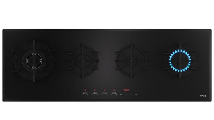Exclusive Serisi/1270-08 (-120 cm, cam ocak -Wok gözlü -Dijital kontrol paneli)