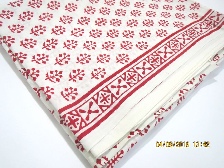 1 yard tree pattern white base India summer Cotton Fabric/Natural Vegetable…