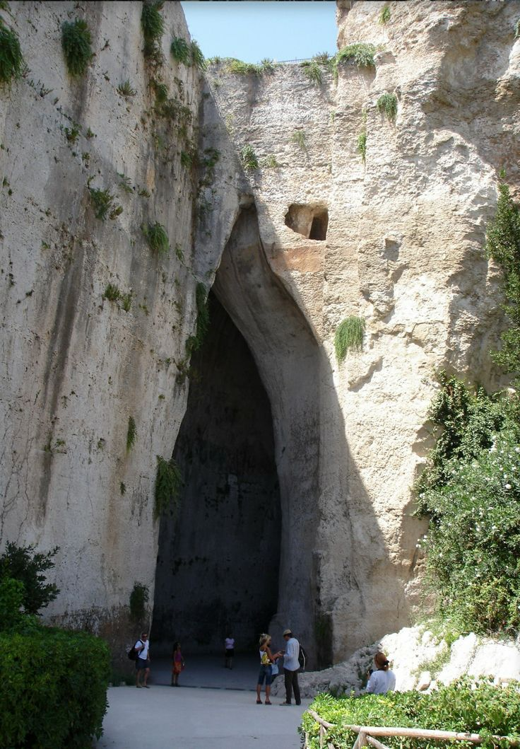 "The ""Ear of Dionysus"" in the Archeological park of Siracusa, Sicily"